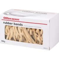 Office Depot Rubber Bands 6 x 80mm Ø 50mm Natural 500g