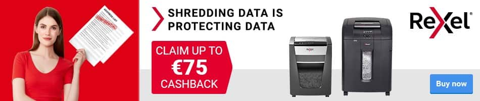 CLAIM UP TO £75 CASHBACK SHREDDING DATA IS PROTECTING DATA Buy Now