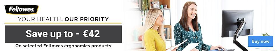 Save up to -€42 On selected Fellowes ergonomics products