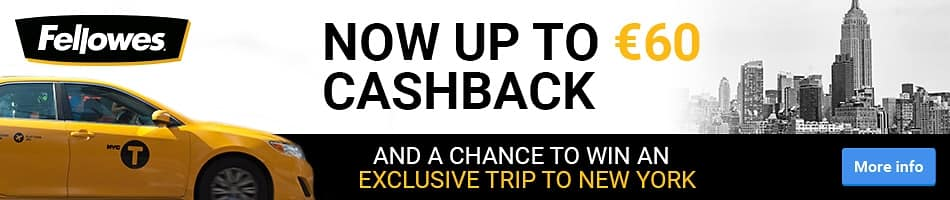 Now up to €60 Cashback and a chance to win an exclusive trip to New York