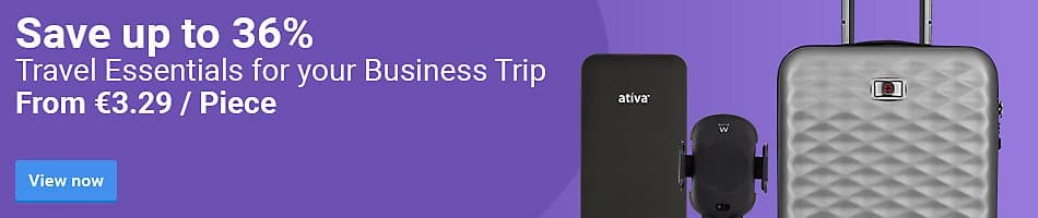 Save up to 36% Travel Essentials for your Business Trip. From €3.29 / Piece