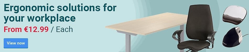 Ergonomic solutions for your workplace. From £12.99 / Each
