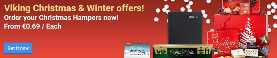 Viking Christmas & Winter offers! Order your Christmas Hampers now! From €0.69 / Each