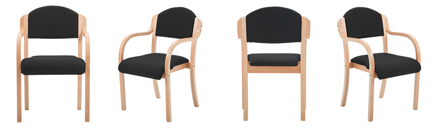 MDK Office Seating Visitor Chair Bentwood